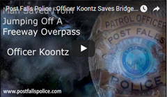 Officer Koontz Saves Bridge Jumper (Video)