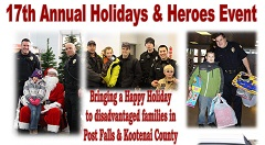 'Holidays and Heroes' 2016 Donations