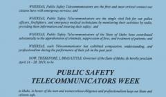 Telecommunicator's Week